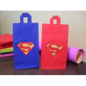 Bolsitas De Papel Para Cumpleaños Spiderman Y Superman
