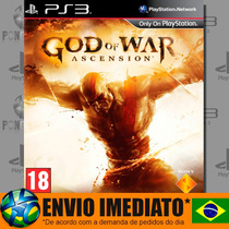 God Of War Ascension - Ps3 - Código Psn - Envio Agora !!