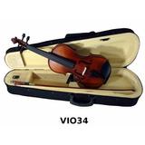 Kit Violin 3/4 Arco Brea Estuche Color Natural Audiomex
