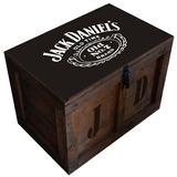 Baúl Madera Vintage Grande P/candado Jack Daniels M-33