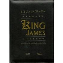 Bíblia De Estudo King James Palav Deus Azul Palav Jesus Verm