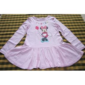 Vestido Remera De Minnie, Marca Europea!!!, Casi Nuevo!!!
