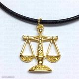 Pingente E Cordão Balança Advogado Libra Profissão Dourado