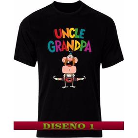 Remeras Negras Tio Grandpa Diseños Exclusivos!!