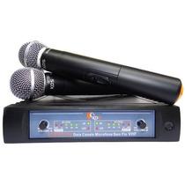 Sistema Microfone Duplo Sem Fio Bivolt Vhf Kadosh Kdsw312