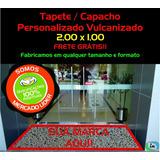 Tapete Capacho Vinil Personalizado Vulcanizado 2,00 X 1,00