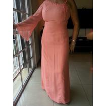 Vestido De Fiesta / Madrina - Impecable! Color Salmon