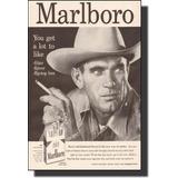 Quadro Decorativo De Propaganda Antiga Cigarro Marlboro
