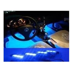 Led Neon Luz Azul Adesivo Interno - Acessorios Carro Tuning