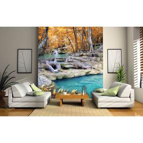 Papel De Parede 3d Cachoeiras Paisagens Fosco Luxo - M²