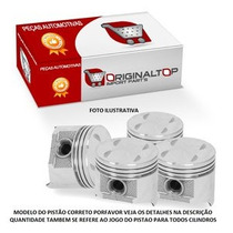 Pistoes Do Motor Std Ka Fiesta 1.6 Sohc Zetec Rocam Med,