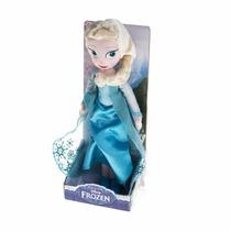 Muñeca Elsa Frozen De Peluche Original 27cm Disney En Caja
