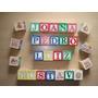 Caixa Bloco Alfabeto Brinquedo Educativo - Letras Em Madeira