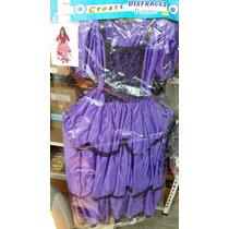 Disfraz De Dama Antigua Con Miriñaque Reforzado