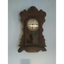 Relógio Antigo Ansonia De Parede Bom Estado Bonito Leia