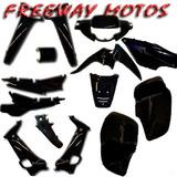 Kit De Plasticos Honda Wave M/ Nuevo Negro En Freeway Motos!