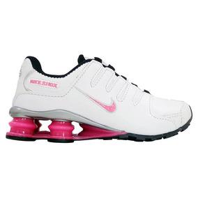 Tênis Feminino Nike Shox Nz Branco E Rosa Promoção