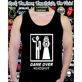 Camiseta Regata Game Over Camisa Humor Divertida Engracada