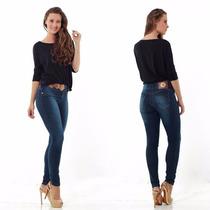 Roupas Femininas / Calça Jeans Skinny Com Ferragem Handara