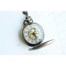 Reloj Relojes De Bolsillo De Pila Caratula Bronce