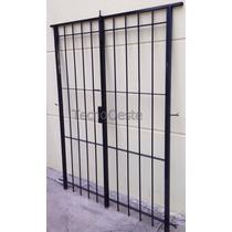 Puerta Reja Seguridad Para 240x200 Hierro 12 Marco Cerradura