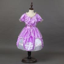 Vestido Fantasia Princesa Sofia + Coroa Pronta Entrega