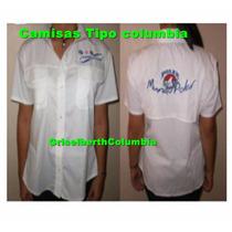 Camisas Tipo Columbia Solo (blancas Negras Y Azul Marino)