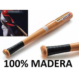 Bate De 100% Madera Original Caimaneras Béisbol Softball