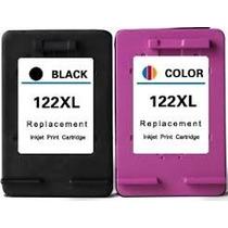 Kit Cartucho Hp 122xl 20ml 122 Color 15ml Kit Recarga Brinde