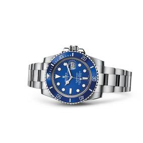 Relogio Submariner Prata Azul Garantia 12x Sem Juros