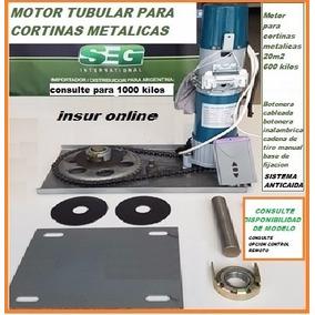 Motor Para Cortina Metalica Control Remoto Y Botonera