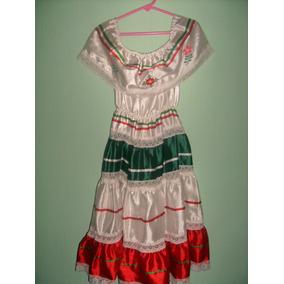 Folklórico Vestido Niña Talla 7/8 Años