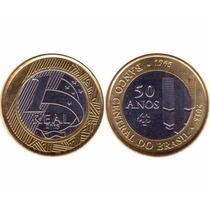 2 Moeda Comemorativas 1 Real - 40/50 Anos Banco Central