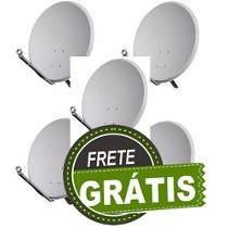 Kits Antenas Completas 60cm Com Lnb E Cabo! + Frete Grati