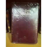 Biblia Reina Valera 1960 Con Forro Vinotinto Papel Económico