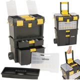 Caixa Plastica P/ Guardar Ferramentas Chaves C/ Roda Vonder