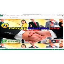 Hoja Calculo Salarial 2016 Liquidaciones Prestaciones Lottt