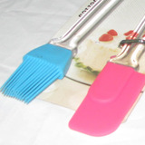 Kit Silicon Pasteleria: Dedo Magico + Pincel Para Untar Tort