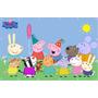 Painel Peppa Pig Banner Peppa Pig Lona - 0,90 X 1,40 Cm
