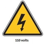 Rt-110v, 110 Volts Calcomania Adhesiva 8x13 Cm