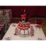 Torta Infantiles Minnie Ideal 1 Año! 70 Personas..