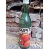 Botella Antigua Verde De Jugo Cepita 1975 Argentina
