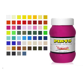 Pintura Acrilica 100 Ml Pinto Disponible En 60 Colores