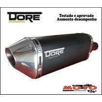 Escape Ponteira Alumínio Dore + Curva Inox Xre 300 Tds Cores
