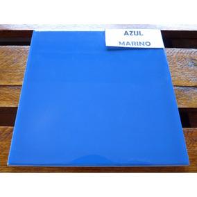 Azulejos Cerámicos De Colores 15 X 15 Color: Azul Marino