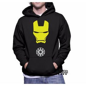 Blusa Moletom Homem De Ferro - Iron Man Canguru Com Capuz