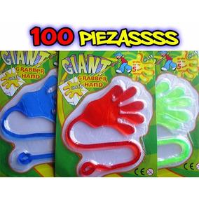 100 Manitas Pegajosas Grandes Elasticas Piñata Papeleria