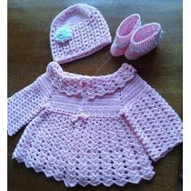 Conjunto Em Croche Para Bebes
