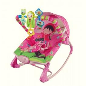 Cadeira De Descanso Musical Vibrátoria Bebê Com Balanço Rosa
