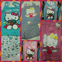Pijamas De Algodon Hello Kitty Para Dama